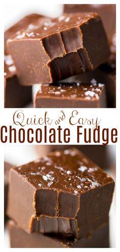 Easy Chocolate Fudge, Caramel Fudge, Best Chocolate, Chocolate Flavors, Chocolate Desserts, Easy Fudge, Chocolate Tarts, Chocolate Syrup, Chocolate Chips