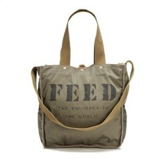 Fashion for a Cause: Shop a Little, Give a Little. The FEED is dedicated to ending world hunger, one child at a time. When you purchase a FEED product you help provide meals to children around the world.