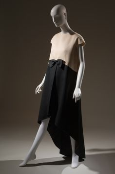 Cristobal Balenciaga Dress Black, white silk gazar 1968, France