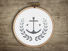 ▲▼▲ anchor cross stitch pattern ▲▼▲  hand designed cross stitch pattern  this pattern comes as a PDF file that you can immediately download after
