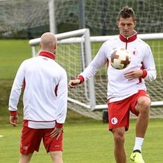 SK Slavia Praha training prior to Europa League match with Maccabi Tel Aviv FC