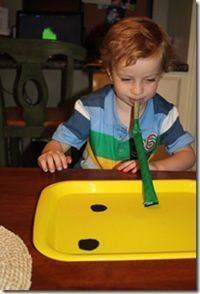 Frog tongue game (add Velcro to a party blower and catch flies made of felt).