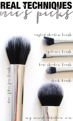 Real Techniques Nic's Picks Makeup Brush Set.  3 of the brushes are exclusive to this set. - http://www.mynewestaddiction.com/2014/10/real-techniques-nics-picks.html