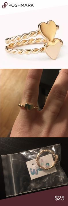 Gold Heart Ring Brand new! Size 6, 14K gold plated alloy. Super cute for Valentine's Day!  WILA Jewelry Rings