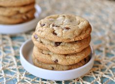 Soft Perfect Chocolate Chip Cookies Uses melted butter and bakes at a higher temperature for a shorter time