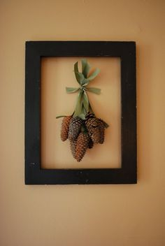 Pinecone decoration for the holidays. Man I'm into pinecones right now.