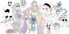 My illustration for Manchester Fashion Week 2012!
