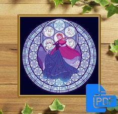 Princess Disney Frozen Fever Anna Cross Stitch Pattern Disney