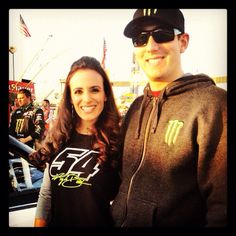 Kb n I before the Richmond nationwide race! Whatcha think of my new 54 shirt?! #glitter