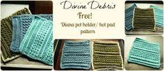 Diana Pot Holder/Hot Pad ~ Divine Debris