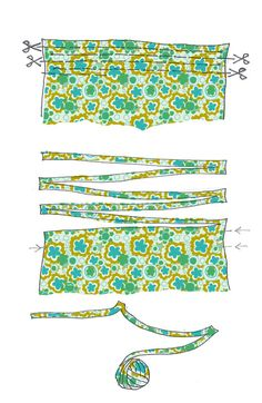 Cut fabric into one continuous strip Crochet Crafts, Crochet Yarn, Crochet Stitches, Crochet Patterns, Fabric Yarn, Fabric Crafts, Granny Square Crochet Pattern, Fabric Strips, Rug Hooking
