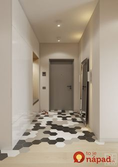 I how these floors creatively transition into another material. I can't wait to try this trend. Apartment Entrance, Home Entrance Decor, House Entrance, Entryway Decor, Flur Design, Entryway Bench Storage, Hallway Designs, Home Renovation, Home Decor Inspiration