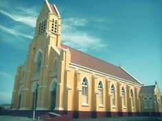 #Yellow #Church #Sint #Willibrordus #Curaçao