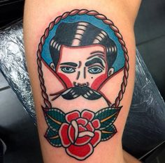 graphisdiagrams: ticopolotatuado: Don Diego @dondiegotattooer Haha #American #traditional #tattoo  #newschool #matheussantos52
