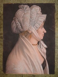 "woman portrait ""grand trait"" Early 19th century circa 1810 Attributed to Etienne Bouchardy (1768-1850)"