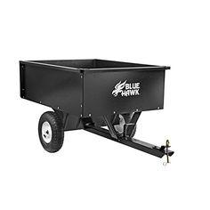 10cu ft Steel Dump Cart Garden Yard Wagon Lawn tractor Mower trailer Attachment