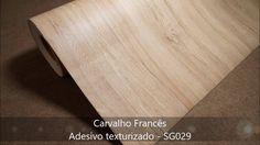 Carvalho Francês - Adesivo texturizado e relevo.