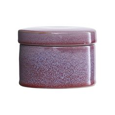 House Doctor Purple Trinket Jar With Lid: This purple trinket dish is a must have for any office, bedroom or snug. The perfect size to keep your trinkets in. Natural variation in colour and patterns due to hand made nature.