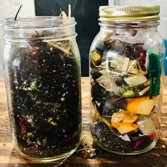 Composting in a jar step-by-step directions! Reduce the amount of food waste that goes to landfills and learn about compost… Compost Soil, Composting, Sustainable Farming, Sustainability, Preschool Garden, How To Make Compost, Large Mason Jars, Green Pumpkin, Plants