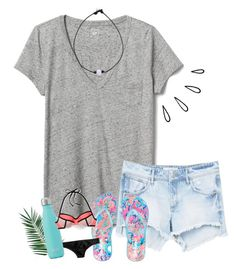 """""""flip floppin'"""" by yasmeen-s ❤ liked on Polyvore featuring Gap, MANGO, Lilly Pulitzer, J.Crew, Nika and Old Navy"""