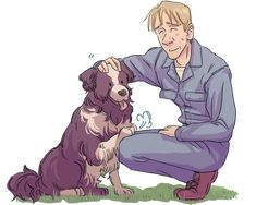 Grimmer and a doggy by cloverinblue.deviantart.com on @DeviantArt