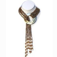 """HinsonGayle Glamour Collection """"Cleopatra"""" Six-strand Pearl Lariat"""