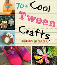 Cool Crafts for Tweens: Tween Crafts for Middle School Kids - UPDATED! Cool Crafts for Tweens: 79 Tween Crafts for Middle School Kids You are in the right place a - Crafts For Teens To Make, Easy Arts And Crafts, Summer Crafts For Kids, Diy And Crafts Sewing, Arts And Crafts Projects, Spring Crafts, Diy Crafts, Craft For Tweens, Crafts Fir Kids