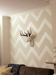 Oh! Chevron wall! Yes! I have to do this somewhere in my house.