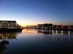 Dublin City Center, taken at dusk