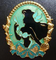Japan Tokyo Disney Resort TDR Ariel Silhouette Pin in Little Mermaid | eBay