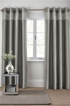 Buy Sequin Band Eyelet Curtain from the Next UK online shop