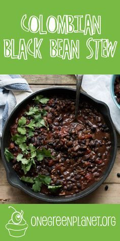 This Colombian black bean stew is proof that healthy plant-based food does not need to be complicated or expensive.