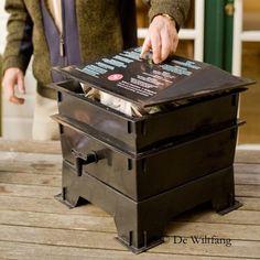 De Wiltfang Wormtoren met 3 bakken - Composteren met wormen - De Wiltf