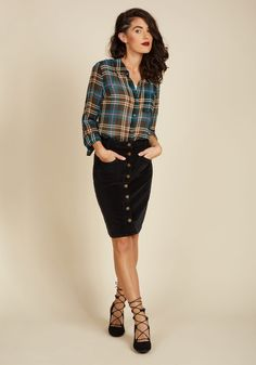 Fasten Sense Skirt in Black, #ModCloth