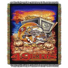 """San Francisco 49ers NFL Home Field Advantage 48""""x 60"""" Woven Tapestry Throw"""