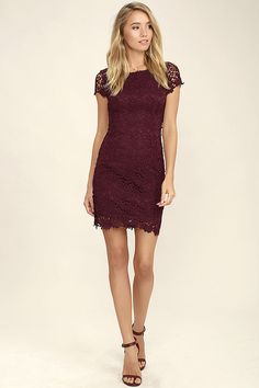 We admire any girl who can put together a great outfit, but honestly, the Hidden Talent Backless Burgundy Lace Dress makes it easy! This beautiful bodycon dress has sheer cap sleeves and a backless design (with top button). Hidden back zipper/hook clasp.
