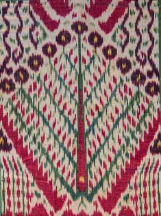 Detail: Silk Ikat (fragment), Central Asia, 19th century, 1'7′x3'4′