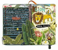 shoulda-woulda-coulda: Experiments in collage and other media Moleskine Sketchbook, Artist Sketchbook, Sketchbook Layout, Creative Journal, Happy Journal, Junk Journal, Bullet Journal, Artist Journal, Art Corner