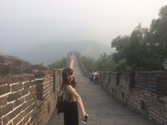 At the great wall#first visit to China#很好看了
