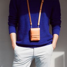 Alfie Six - Utility Case/Small- veg tan leather- handmade in England