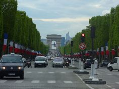 View of the Arc de Triomphe from the Concorde