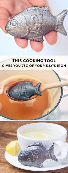 Put this little fish in boiling water and turn pasta, tea, soup or rice into an iron-rich dish. For each one bought, another is given to a family in need.
