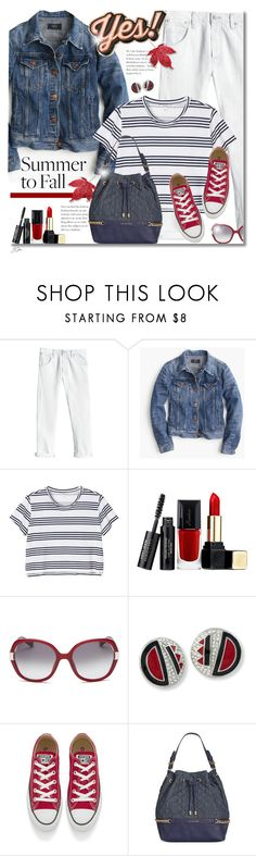 """Summer to Fall"" by jgee67 ❤ liked on Polyvore featuring Rebecca Taylor, J.Crew, Monki, Guerlain, Bobbi Brown Cosmetics, Kenneth Jay Lane, Converse, Tommy Hilfiger, Anya Hindmarch and polyvoreblogger"