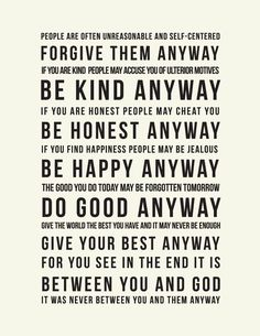 The words of beautiful Mother Teresa, a true saint. Great Quotes, Quotes To Live By, Inspirational Quotes, Awesome Quotes, Motivational Quotes, Inspiring Sayings, Inspiring People, Uplifting Quotes, Live Your Life