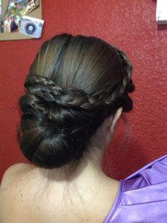 Braid updo hair style hairdo beauty / peinado para fiesta