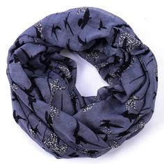 Seagull infinity scarf women grey twill scarfs hijab echarpe cachecol inverno neck ring viscose shawls and scarves foulardcape
