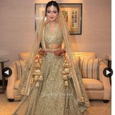57 Most Popular Wedding Gown Indian Lehenga Choli Gold Wedding Gowns, Vintage Style Wedding Dresses, Top Wedding Dresses, Bridal Dresses, Wedding Outfits, Wedding Bride, Indian Lehenga, Lehenga Choli, Wedding Couple Pictures