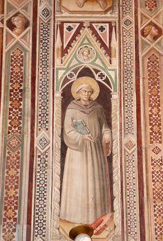 Agnolo Gaddi - San Bonaventura - affresco - 1385 - Cappella Castellani - Basilica di Santa Croce a Firenze.