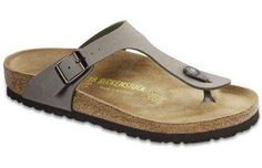 Birkenstock- Stone Birkibuc Gizeh. Oh please may I be gifted with these.