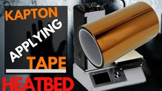 A heatbed of a printer needs to be clean and sticky. I use kapton tape to protect my heated bed of my Malyan or a Monoprice mini. 3d Printer, Tape, How To Apply, Printing, Cleaning, Bed, Stream Bed, Beds, Ribbon